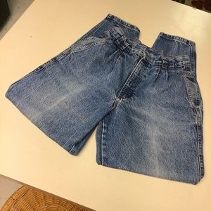 Vintage Chic Jeans High Waisted Pleated USA
